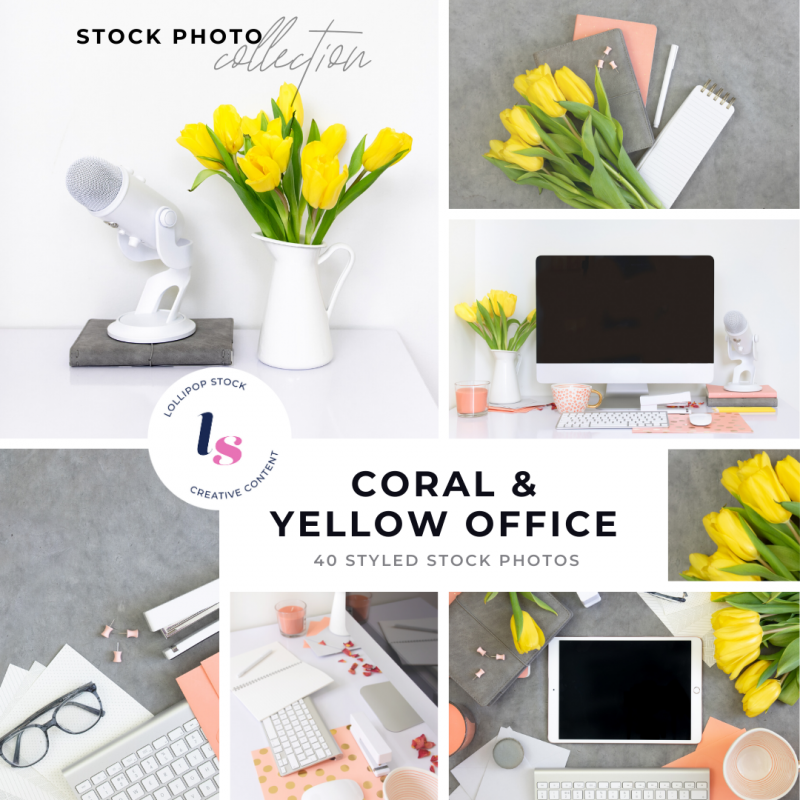 Coral & Yellow Office