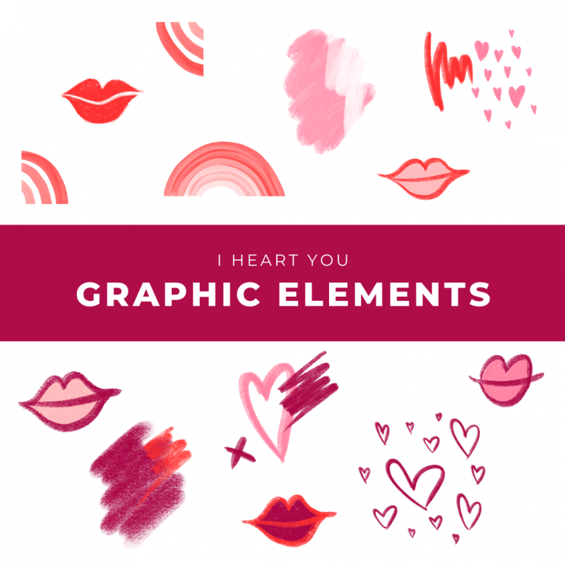 I Heart You Graphic Elements