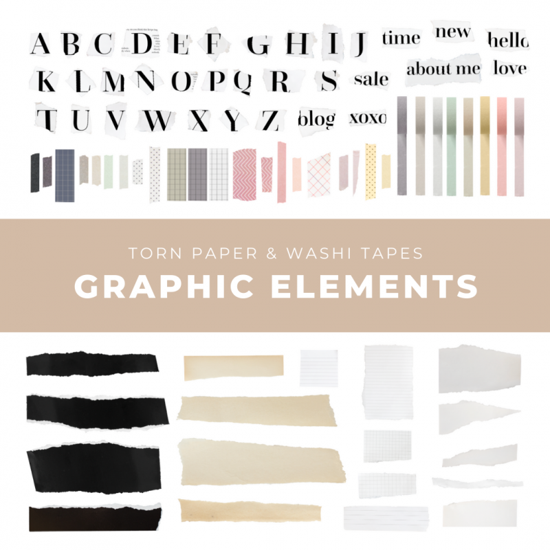 Torn Paper Graphic Elements