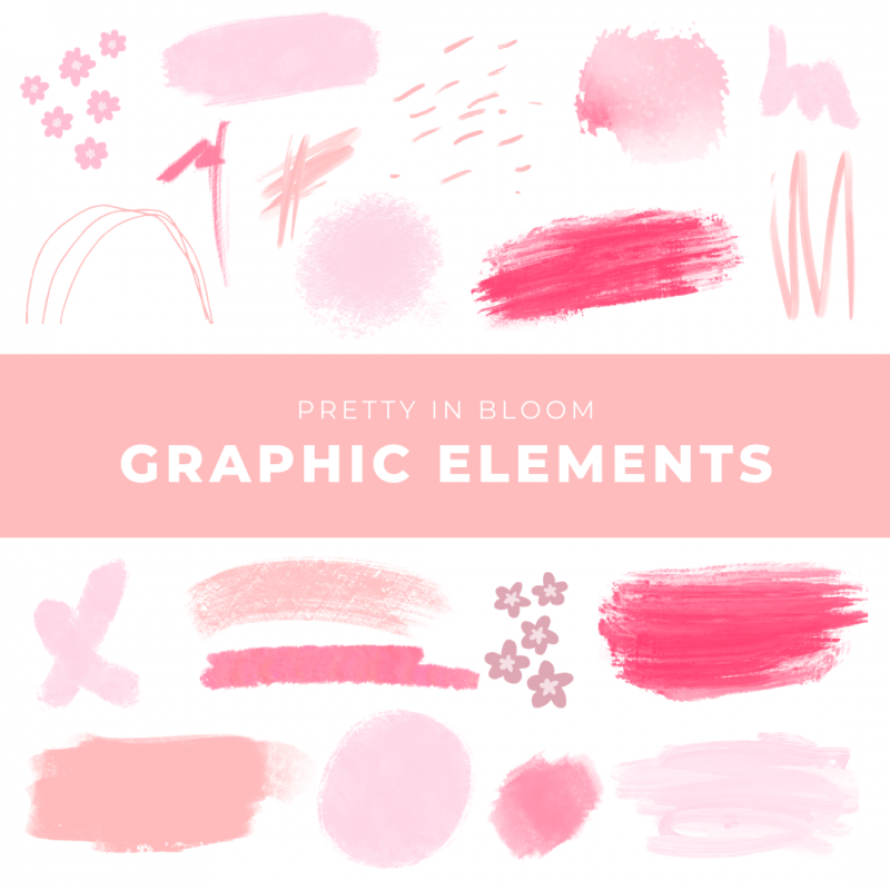 Pretty in Bloom Graphic Elements