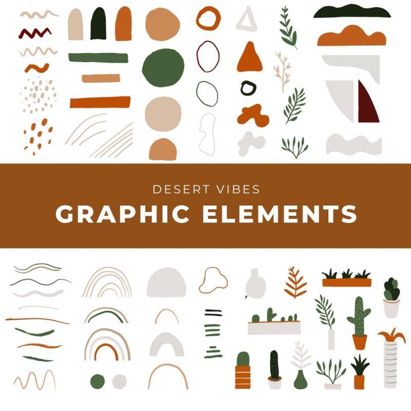 Desert Vibes Graphic Elements