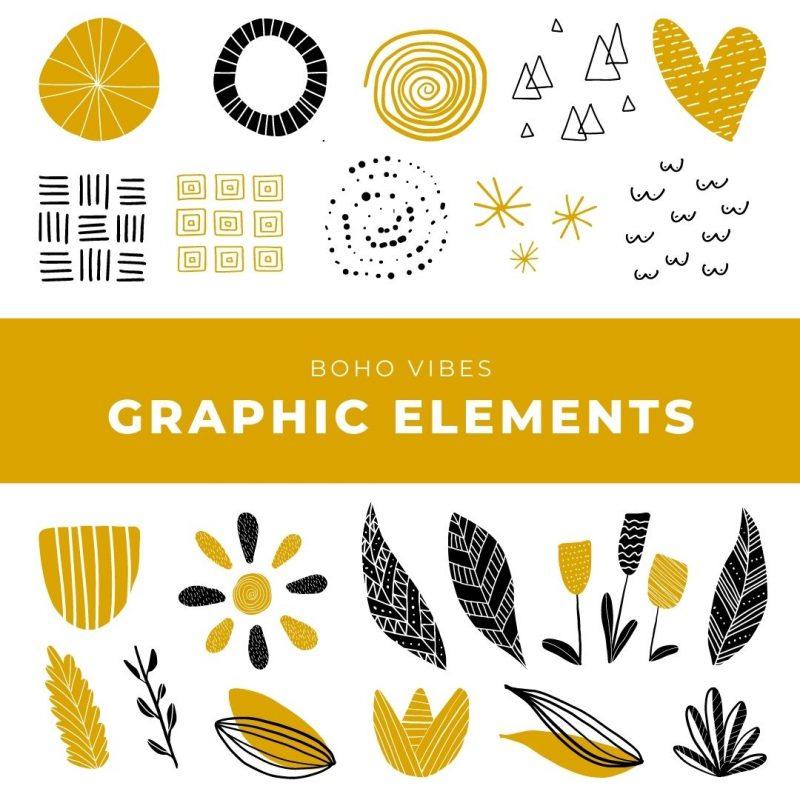 Boho Vibes Graphic Elements