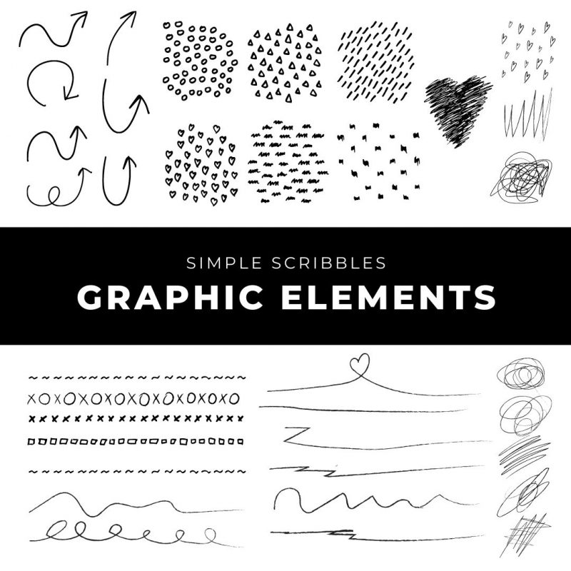 Simple Scribbles Graphic Elements