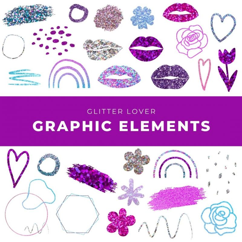 Glitter Lover Graphic Elements